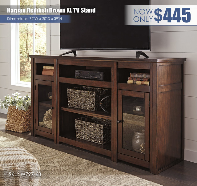 Harpan Reddish Brown XL TV Stand_W797-68