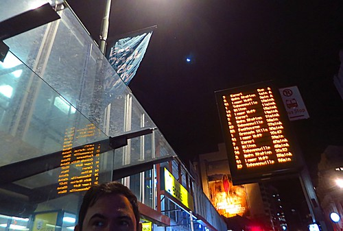 Manners Street, Wellington, New Zealand - The Moon and Venus overhead 180817 229