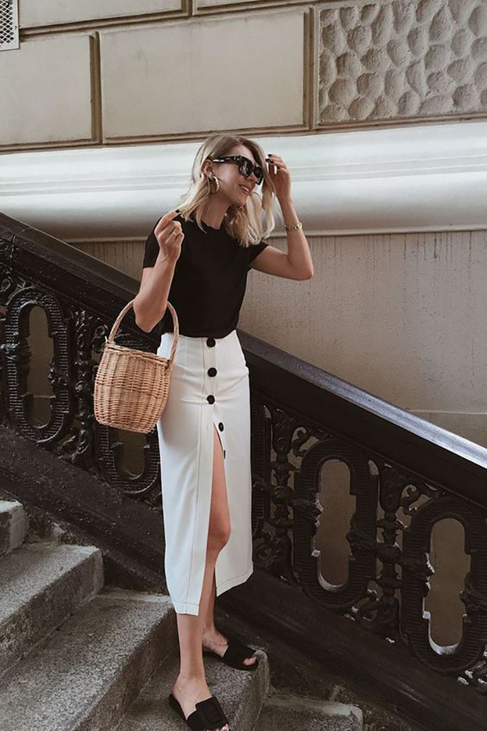 midi dresses midi skirt outfits for this summer trend 2018 style fashion tendencias9