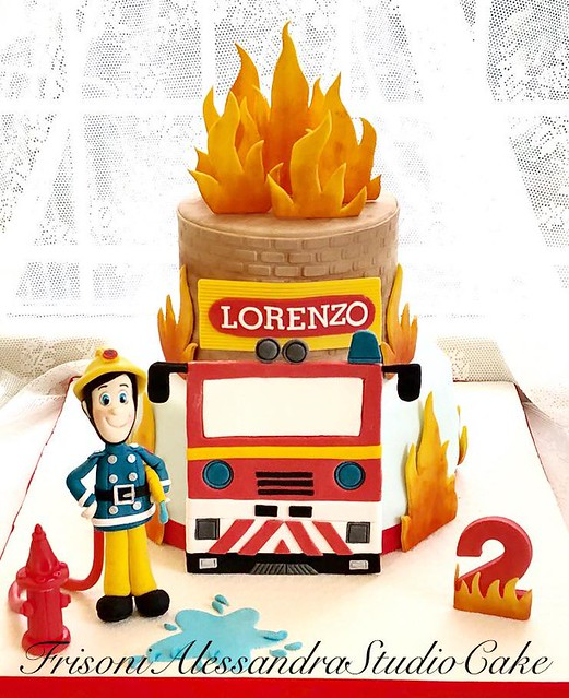 Fireman Cake by Frisoni Alessandra Studio Cake