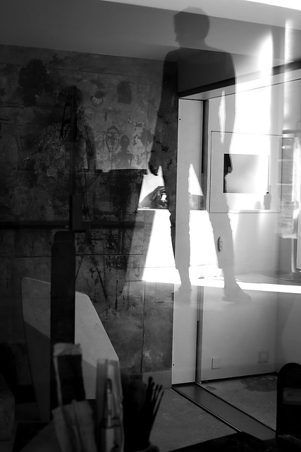 In the Giacometti's workshop