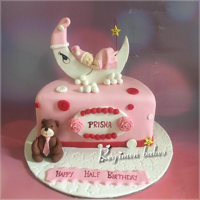 Half Birthday Cake by Regimen Customized Cakes