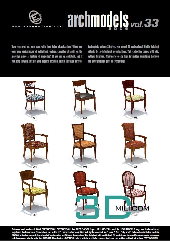Evermotion Archmodels Vol 33: Classic furniture - 3D Mili - Download