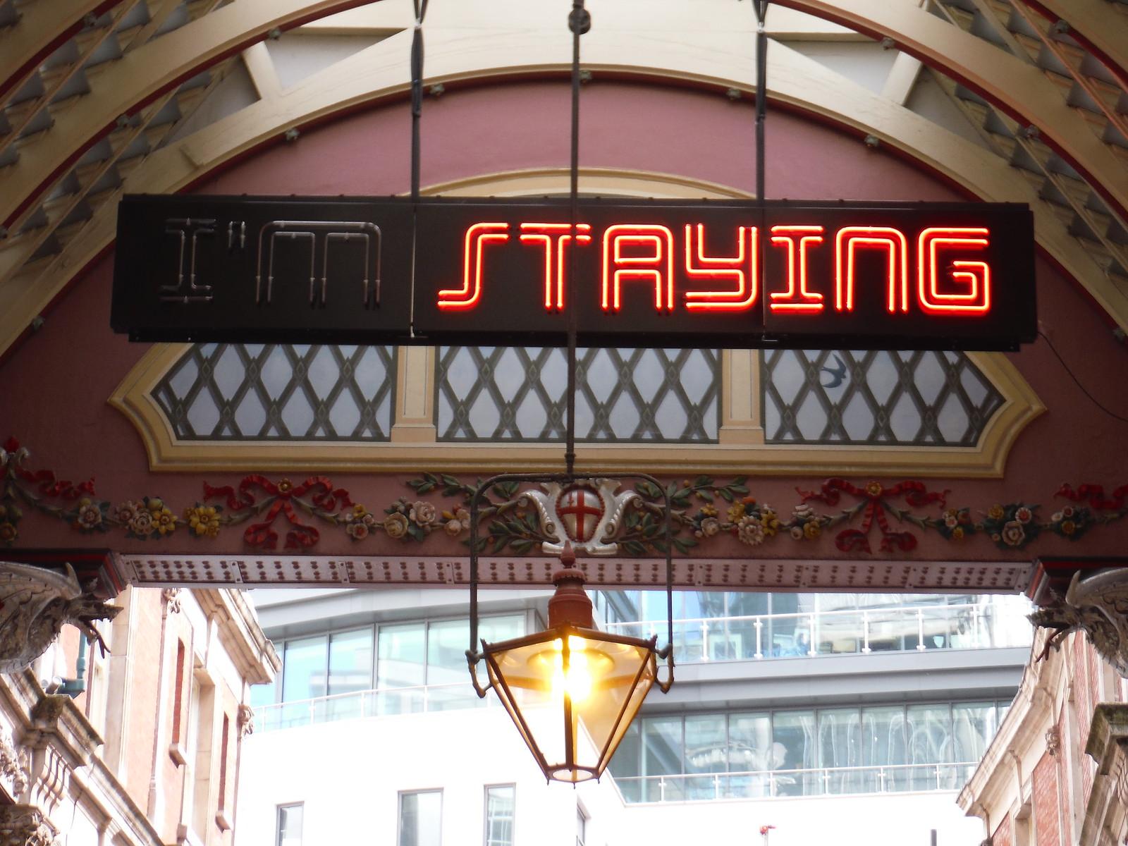 Shaun C. Badham - I'm Staying SWC Walk Short 24 - Sculpture in the City