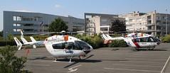 OO-NSL EC145 and OO-NHB EC145-C2 Loos Hospital 260518