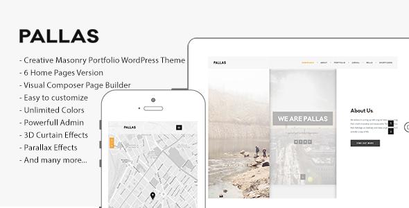 Pallas v1.8.0 – Creative Multi-Purpose WordPress Theme