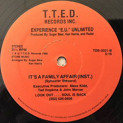 "EXPERIENCE ""E.U."" UNLIMITED:IT'S A FAMILY AFFAIR(LABEL SIDE-B)"