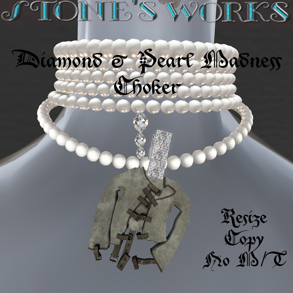 Diamond & Pearl Madness Choker Stone's Works