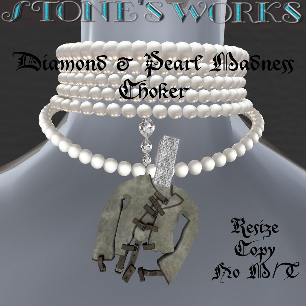 Diamond & Pearl Madness Choker Stone's Works - TeleportHub.com Live!