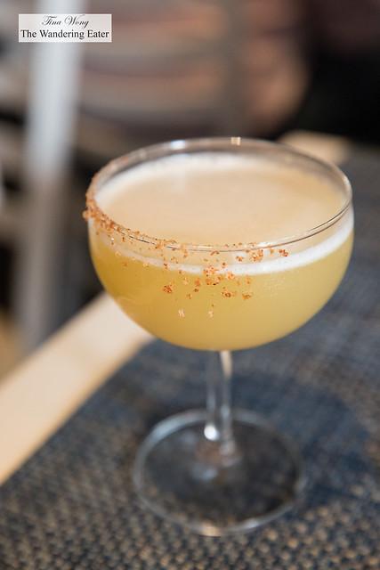El Joven (Tequila, pineapple juice, agave, ginger, lime, bianco, paprika, sea salt)
