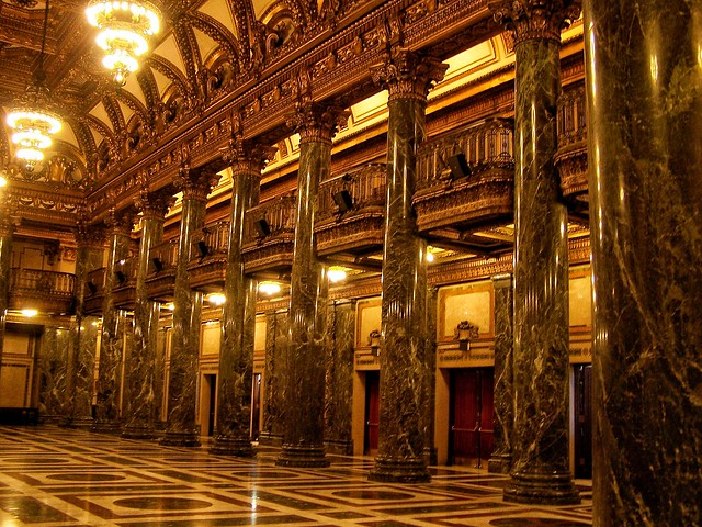 Pittsburgh Pennsylvania ~ The Music Hall ~ Historic  ~ Gold Lobby