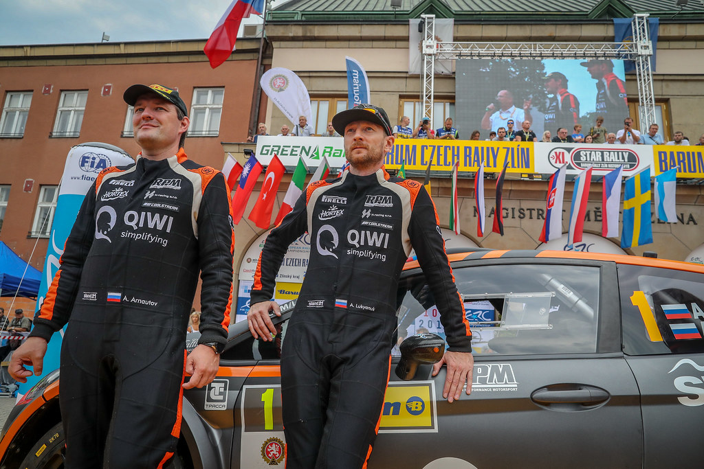 Lukyanuk Alexey, RUS, Russian Performance Motorsport, Ford Fiesta R5, Portrait, Arnautov Alexey, RUS, Russian Performance Motorsport, Ford Fiesta R5, Portrait during the 2018 European Rally Championship ERC Barum rally,  from August 24 to 26, at Zlin, Czech Republic - Photo Alexandre Guillaumot / DPPI