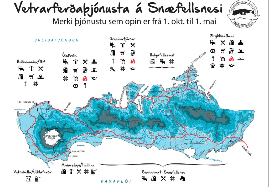 Snaefellsnes Map