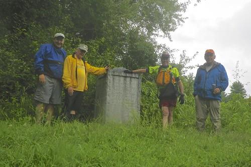 Erik, Bill, Conrad and A at the Sudbury Fight Monument