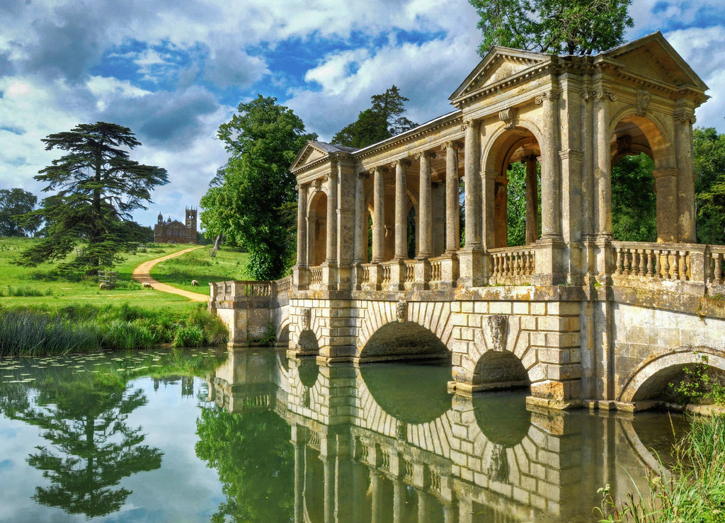 The Palladian Bridge at Stowe House in Buckinghamshire. Credit Baz Richardson, flickr