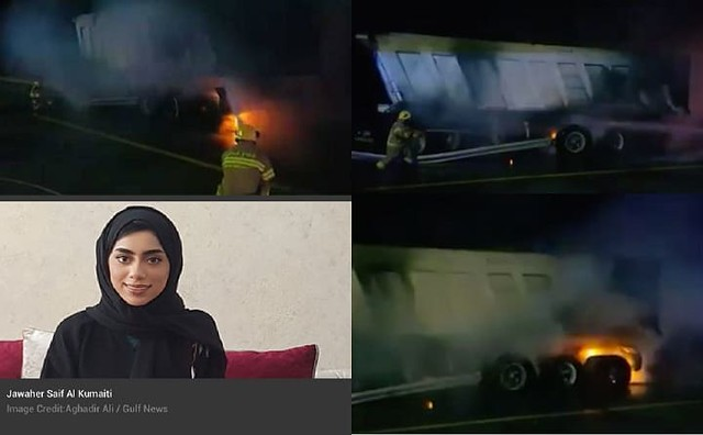 3803 Jawaher Saif A lady who saved the life of an Indian driver with her Abaya 04