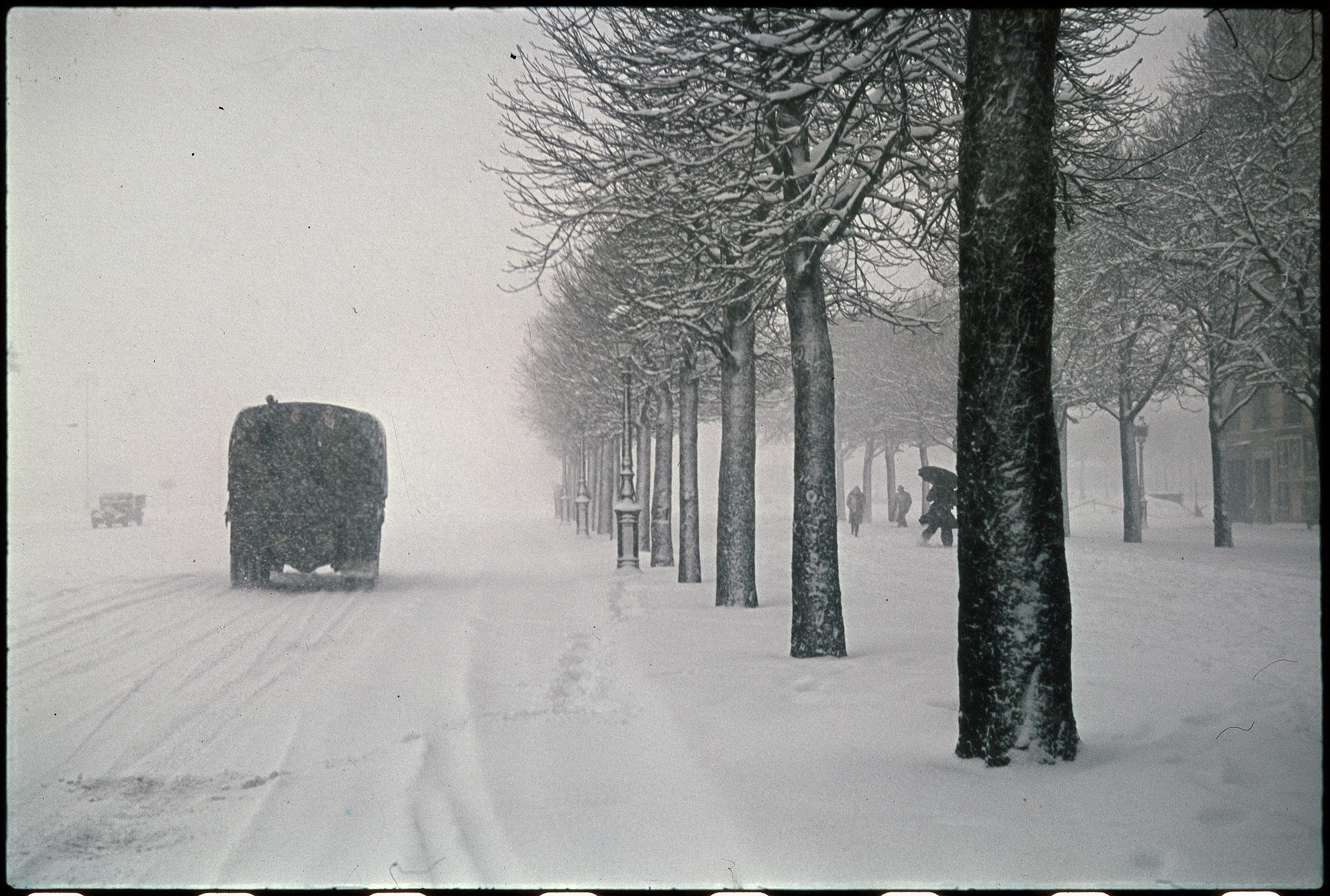 Площадь Венсен зимой