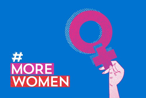 The #MOREWOMEN campaign to support more women in Irish politics, designed by Ruth Martin and Paula McEntee at Red Dog in Dublin. Selected for the 100 Archive 2017