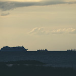 20180617-204016 AIDA + 2 Ships - Ostsee - Germany