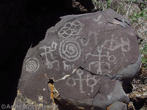 Sample of the petroglyphs at the Nampaweap site, Grand Canyon-Parashant National Monument, Arizona