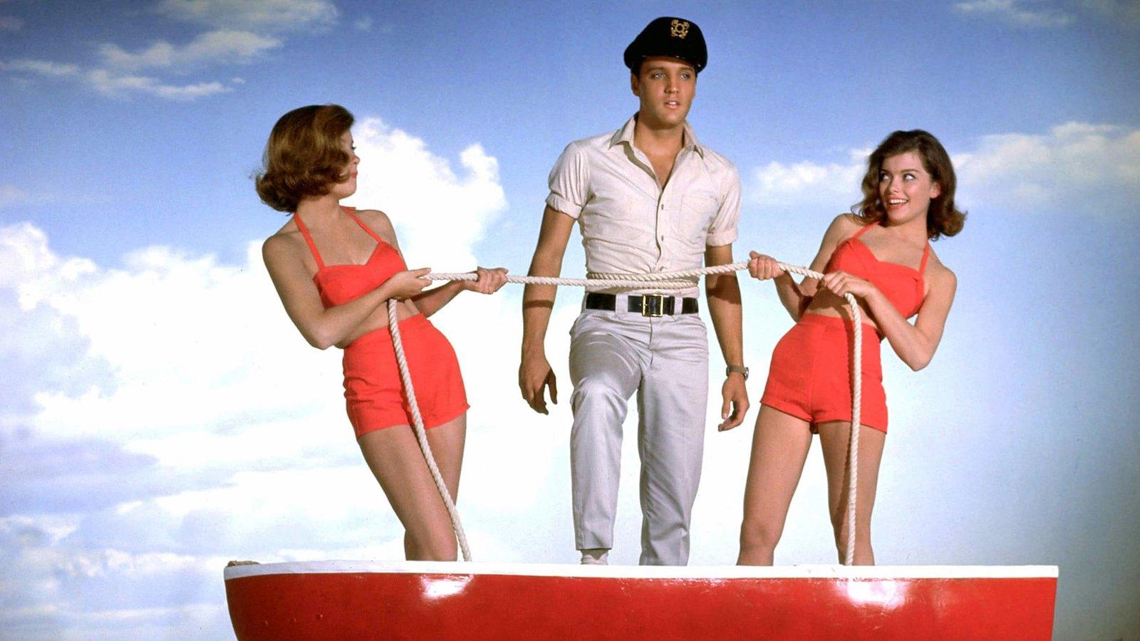 Promotional still image from Elvis Presley's film Girls, Girls, Girls released in 1960.
