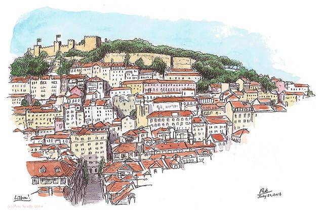 Lisbon view from Santa Justa sm