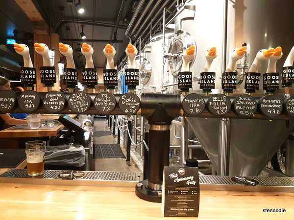 Goose Island beers on tap