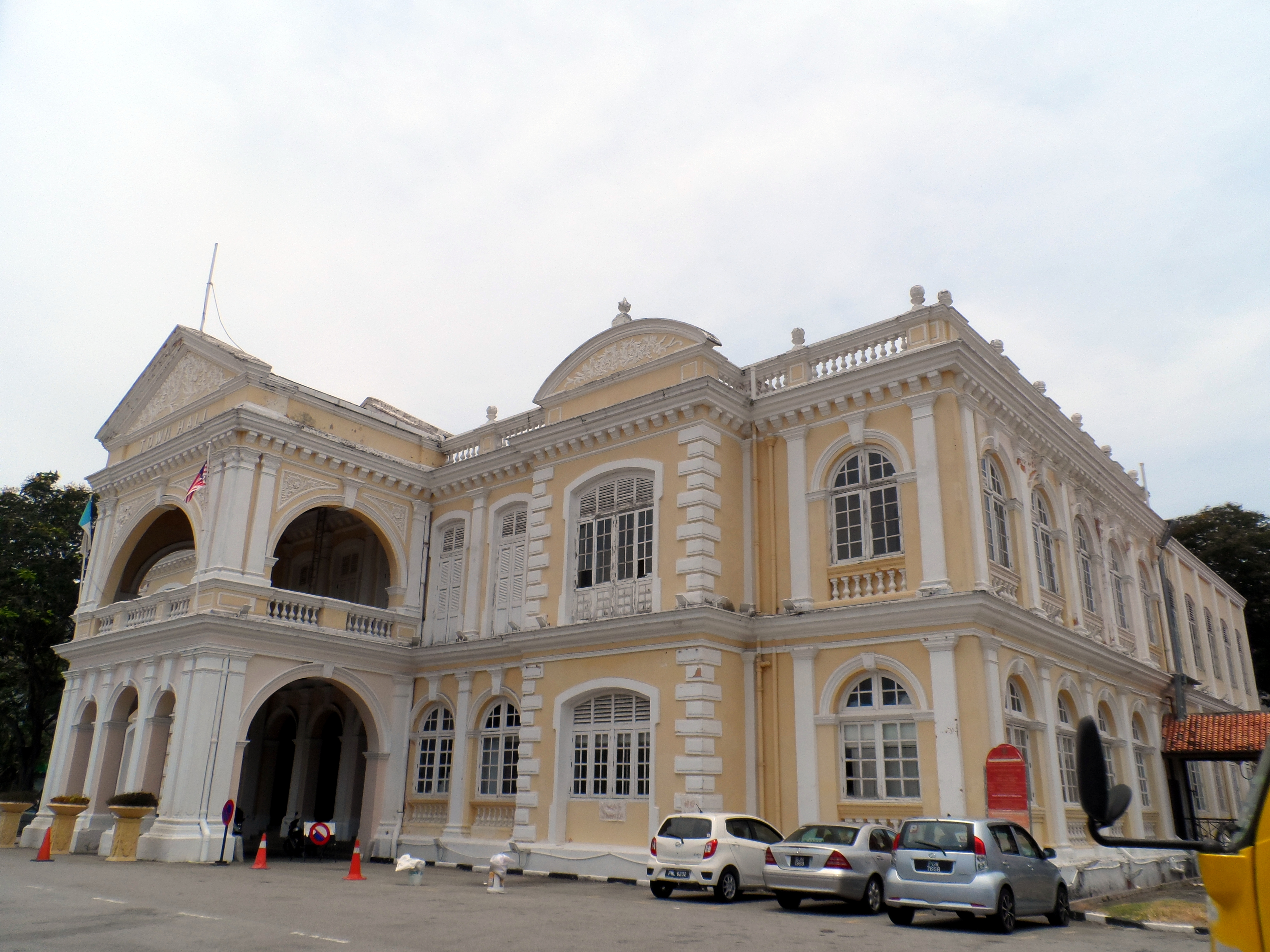 The Town Hall in George Town, Penang, built in 1880 - Photo taken on April 7, 2016