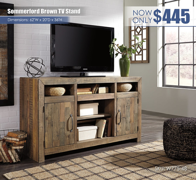 Sommerford Brown TV Stand_W775-48