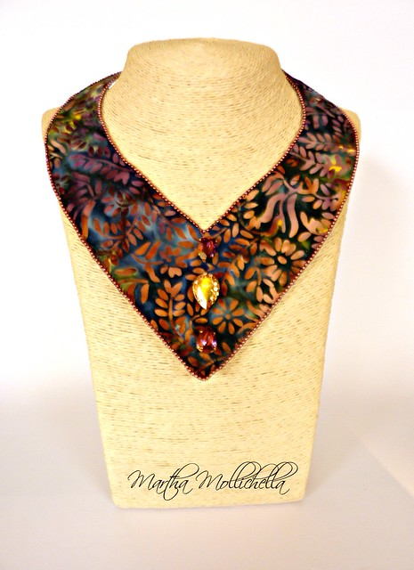 batik jewellery handmade in italy by Martha Mollichella batik fabric