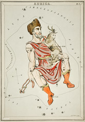 Sidney Hall's (1831) astronomical chart illustration of the Auriga. Original from Library of Congress. Digitally enhanced by rawpixel.