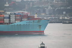 Maersk Kinloss (Container Ship) Entering the Port of New York from the Adventure of the Seas - August 3rd, 2018