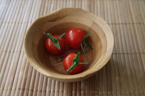 Die nächsten drei Tomaten von unserem Balkon