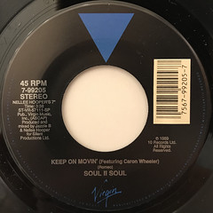 SOUL II SOUL:KEEP ON MOVIN'(LABEL SIDE-A)