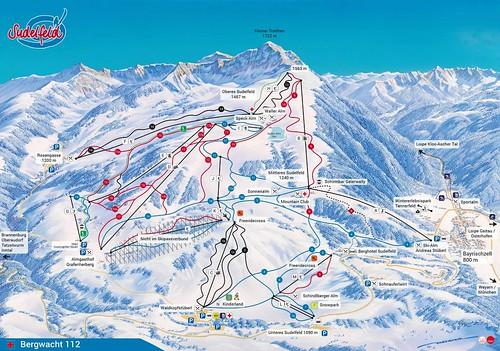 Sudelfeld - mapa sjezdovek