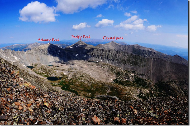 Looking northwest at Tenmile Range from the summit of Quandary Peak (3)