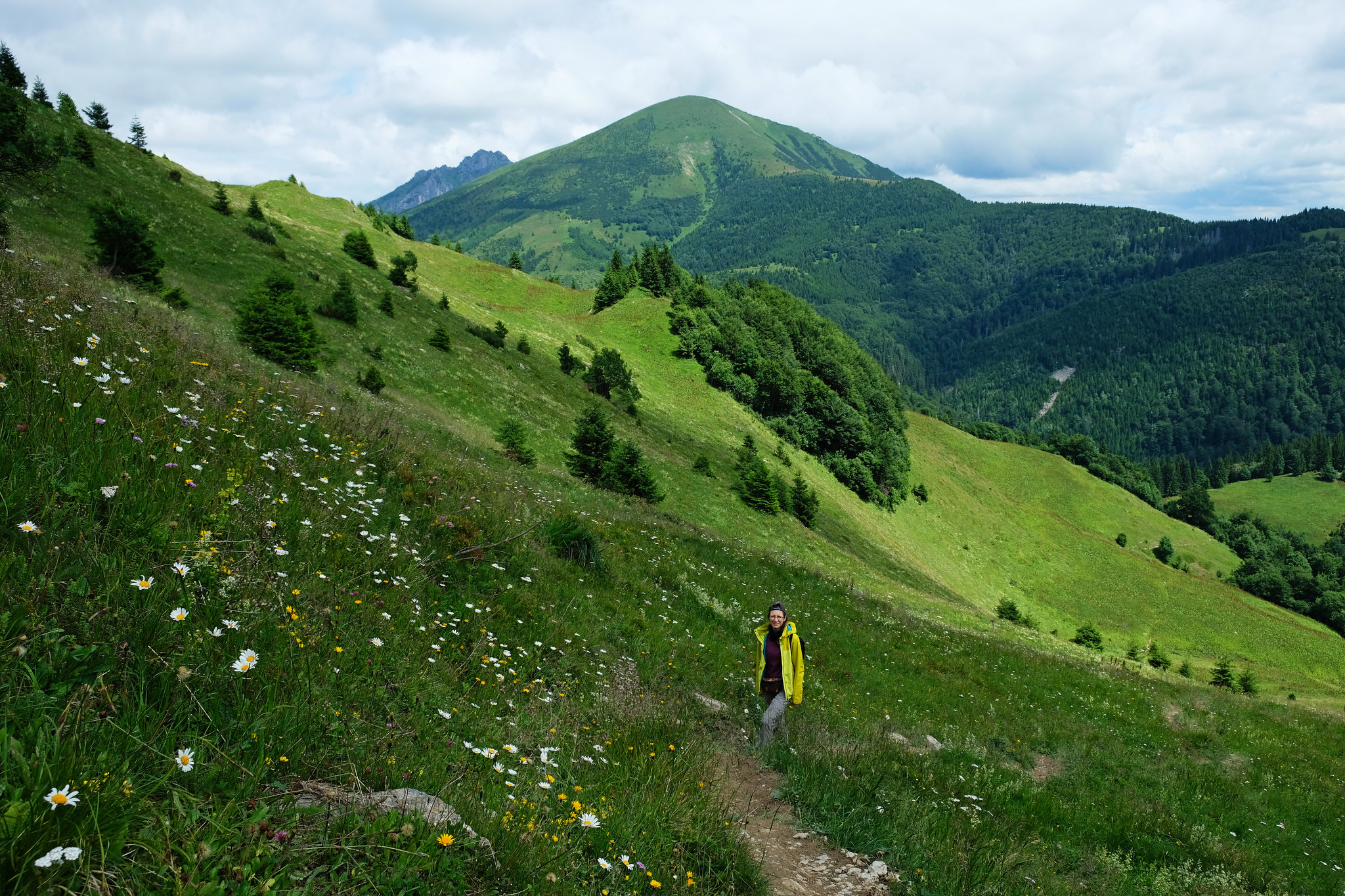 Hiking to Chleb peak, Little Fatra, Slovakia