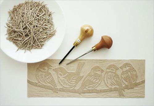 Sparrows - printing board / Воробьи - печатная форма