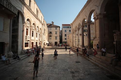 Spalato: peristilio (palazzo di Diocleziano)