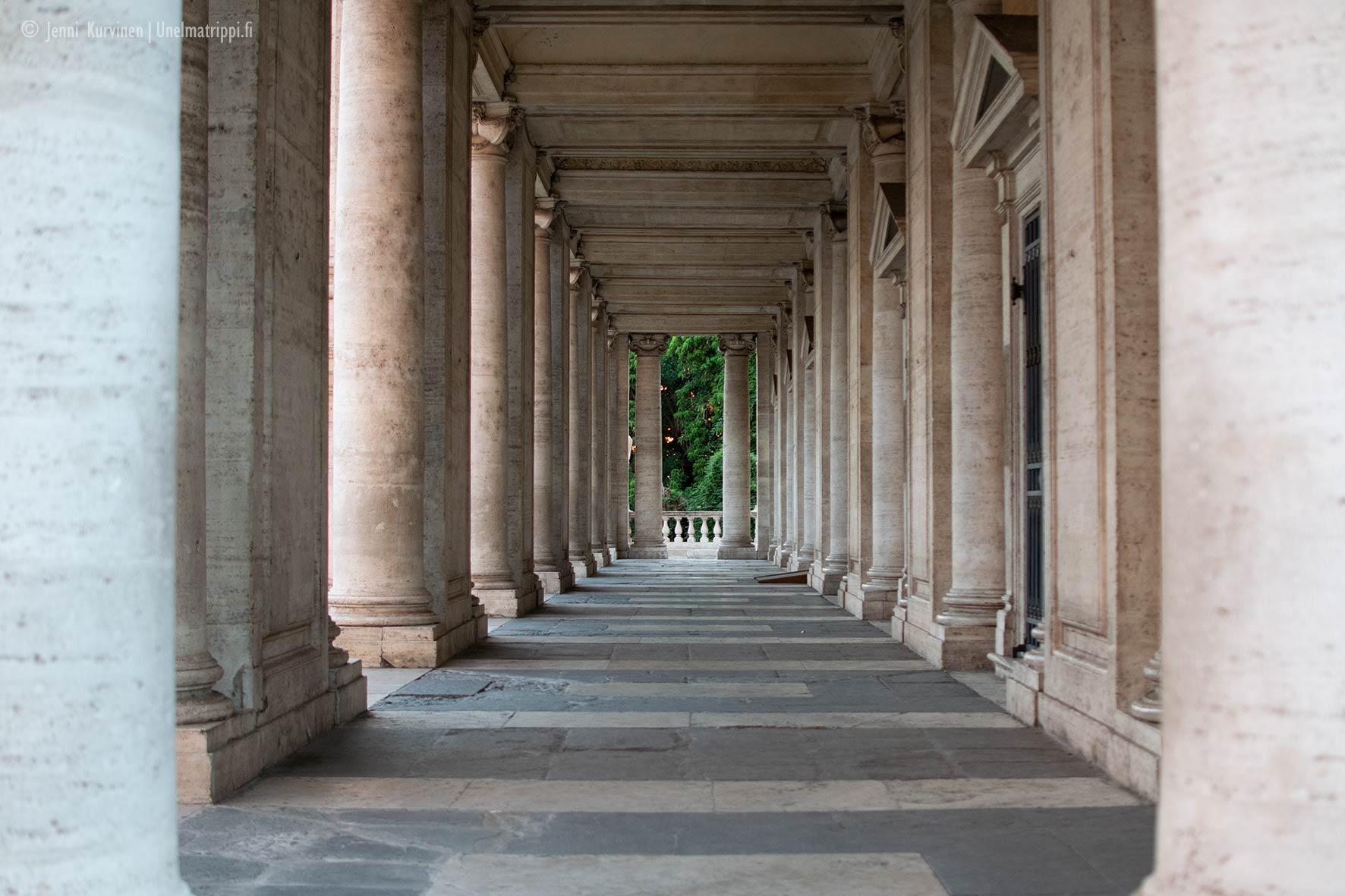 Pylväsrivistö Capitolium-kukkulalla