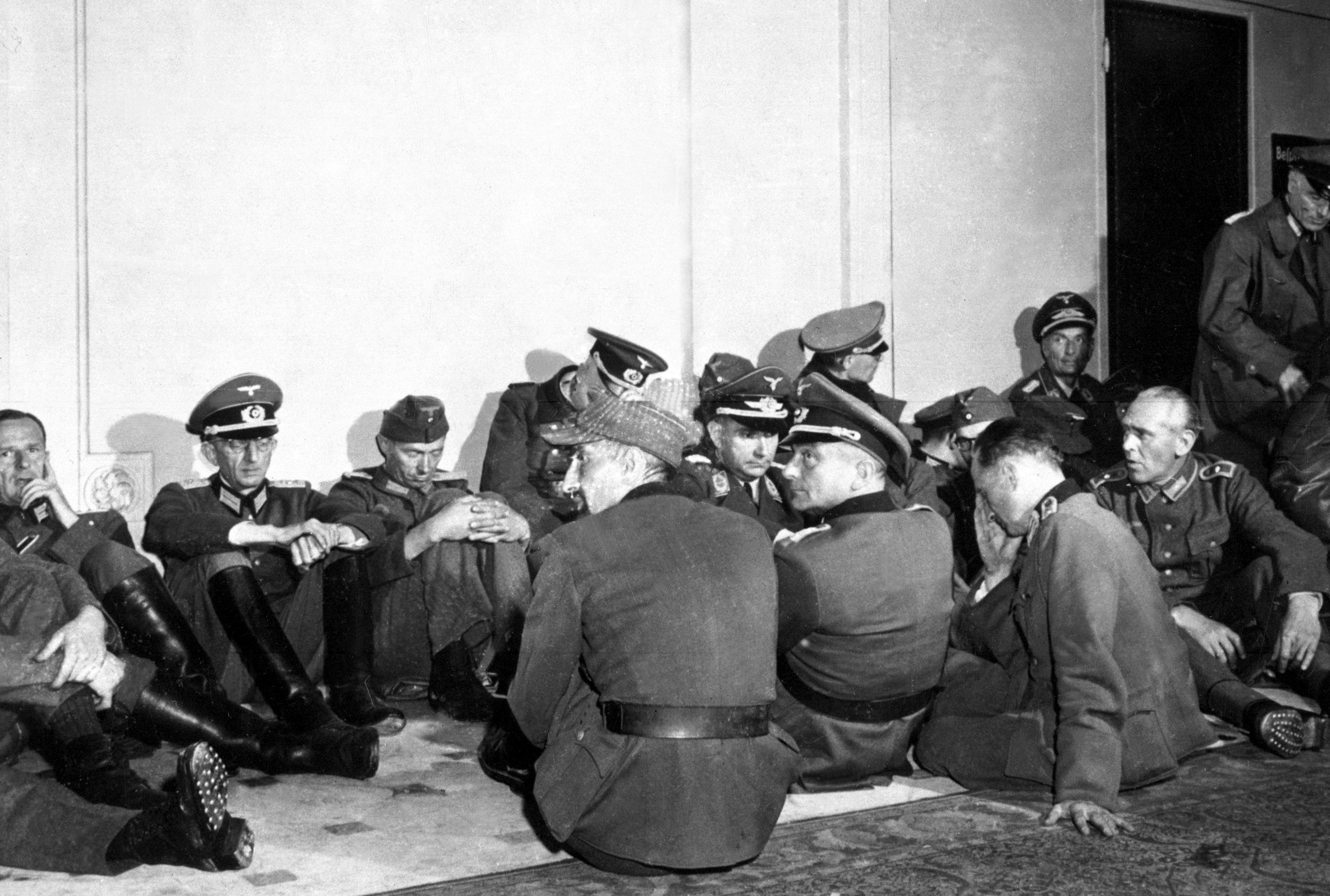High ranking German officers seized by Free French troops which liberated their country's capital are lodged in the hotel Majestic, headquarters for the Wehrmacht in the days of the Nazi occupation. Paris, France, August 26, 1944. Lovell. (Army).NARA FILE #: 111-SC-193010.
