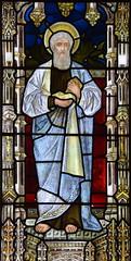 St Luke (Henry Holiday for Powell & Sons, 1878)