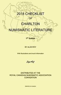 2018 Checklist of Charlton Numismatic Literature - Alan Roy