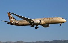 Etihad Airways. A6-BLA. Boeing 787-9 Dreamliner. EY51. GVA.