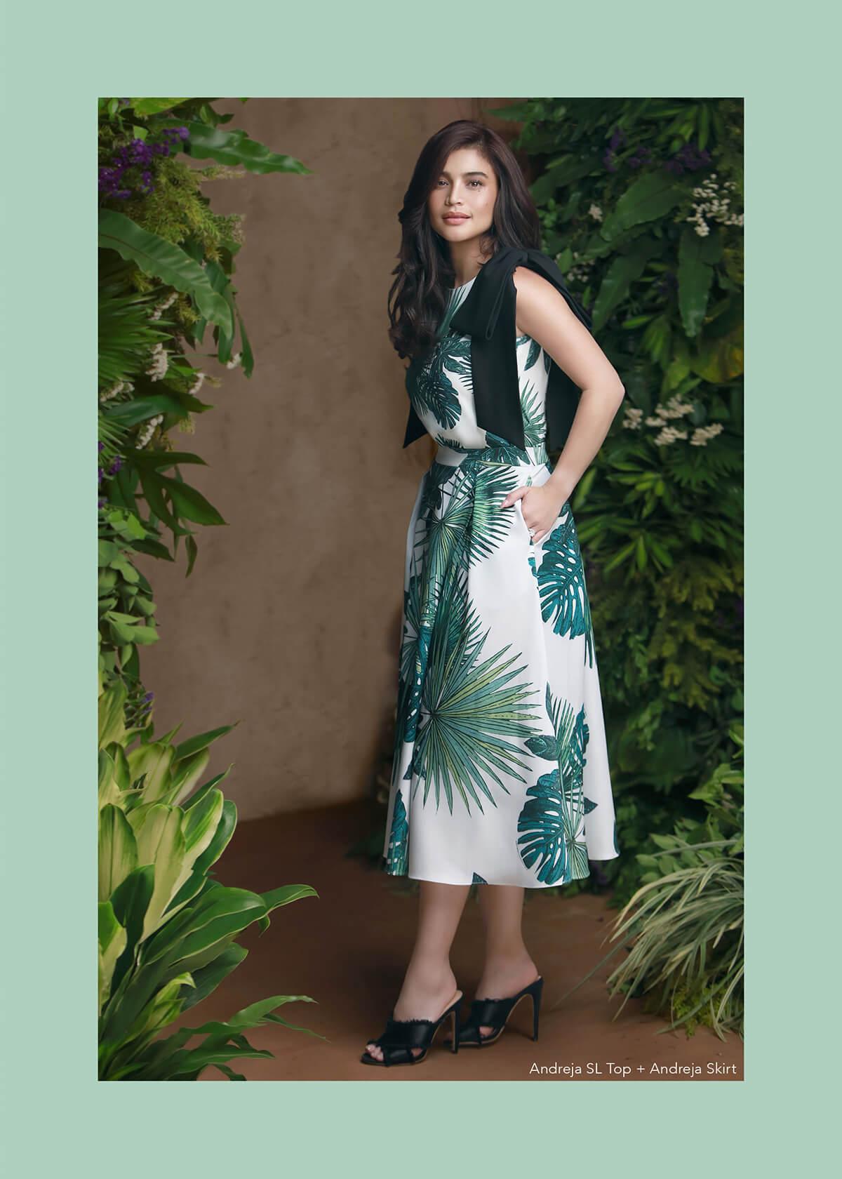 Plains & Prints Mark Bumgarner Collection - Andreia SL Top + Andreia Skirt