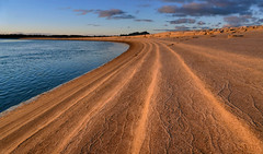 Tide lines at Sunset.