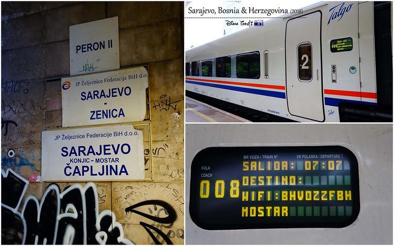 2018 Bosnia Sarajevo Train to Mostar