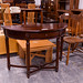 Mahogany half moon table E150