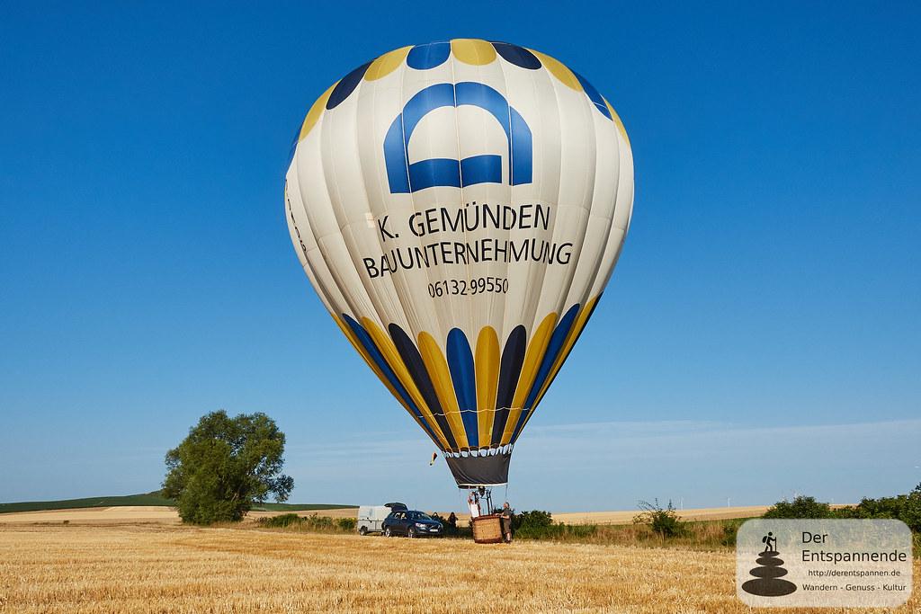 Mit dem Ballon von Selzen bis Nähe Bechtolsheim