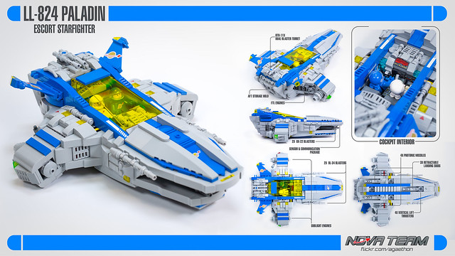 LL-824 Paladin Escort Starfighter LEGO neo Classic Space